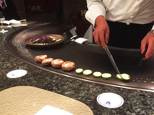 日光ホテル奈良/銀杏の鉄板焼き